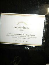 Pottery Barn Emery Doublewide Blackout Drapes (2) 100x84 NIP