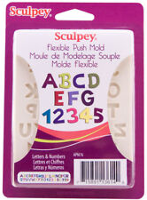 Sculpey Flexible Push Mold Alphabet Letters & Numbers Set Polymer Clay Soap Wax