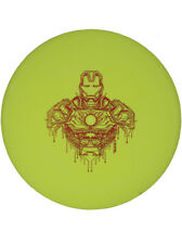 Marvel Disc Golf Dynamic Discs Iron Man Fuzion Truth Hot Stamp 169g Yellow Foil