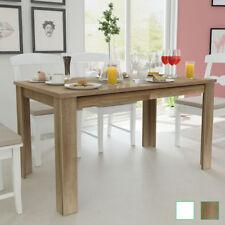 vidaXL Mesa de Comedor Blanca/Roble 140x80x75cm Mesa para Cocina Madera Elegante