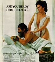Centaur Cologne Massage Are You Ready Toga Model 1967 Vintage Print Ad
