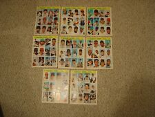 VINTAGE 1969 BASEBALL STARS OFFICIAL PHOTOSTAMPS A.L. SERIES 1-8