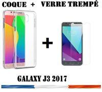 Coque Etui Housse Silicone slim Samsung Galaxy J3 (2017) +Film Verre Trempé