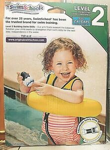 Kids swim training inflatable pool PFD Safety Strap TEACH SWIMMING Ages 2+ NEW
