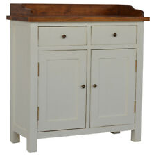 Free Standing Gallery Back 2 Toned Kitchen Unit with 2 Drawers