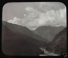 Glass Magic Lantern Slide MORNING HILL CLOUDS AT THE SOURCE OF THE GANGES C1890