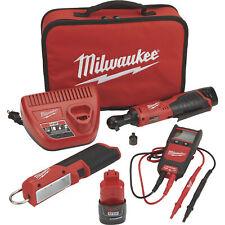 Milwaukee M12 Cordless Automotive Ratchet Kit 38in Ratchet 2457 21nte