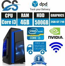 Jeu Tour PC Bureau Ordinateur Intel Coeur i3 500GB HDD 4GB RAM Win10 2GB GT710
