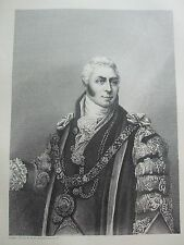 ANTIQUE PRINT C1875 SIR MATTHEW WOOD LONDON GUILDHALL COLLECTION ENGRAVING ART