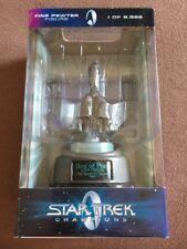 Star Trek Pewter Bird Of Prey Champions 1998 Numbered 0650 Coa Mib Figure
