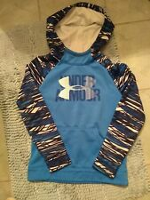 Under Armour Hoodie For Boy Blue Size YMD/JM/M