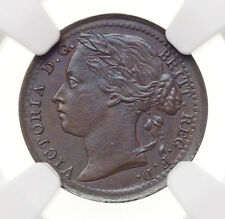 GREAT BRITAIN. Victoria, 1885, 1/3 Farthing, For use in Malta, NGC Unc Details