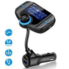 Bluetooth Car FM Transmitter Audio Adapter Receiver Wireless Hands Free Car Set