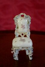 Vintage Miniature Porcelain Dollhouse Chair Hand Painted French style