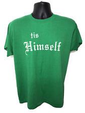New listing Vtg 80s Tis Himself T-Shirt Green Xl Screen Stars Single Stitch Ireland