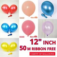 "CHROME BALLOONS METALLIC LATEX PEARL 12"" Baloons Birthday Party UK Supplier"
