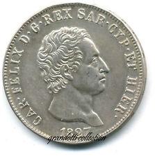 CARLO FELICE 5 LIRE 1827 GENOVA REGNO DI SARDEGNA COPIA MONETA COPIE COPY COIN