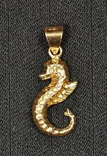 18k Yellow Gold Seahorse Pendant - Gently Used - J-114A