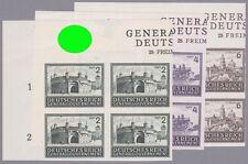 Generalgouvernement Mi.Nr. 113-115 U Eckrandviererblocks mit Hoheitszeichen