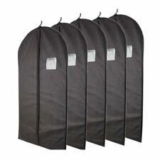 Plixio 10465903 5 Pieces Garment Bags with Zipper and Transparent Window - Black