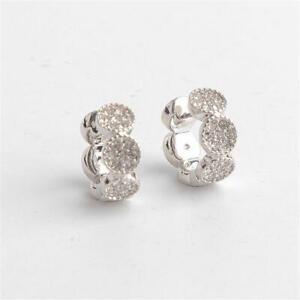 Kate Spade New York Gatsby Dot Huggies Earrings Silver Tone