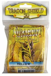 Card Sleeves Dragon Shield 50ct Box Deck Protector Classic Yellow Standard Size