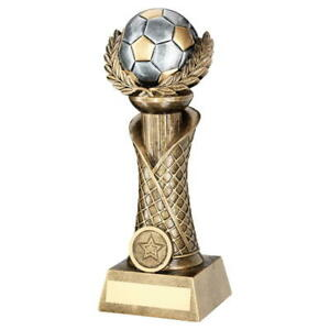 BRZ/PEW/GOLD RESIN FOOTBALL WITH WREATH TROPHY - 10.5in FREE ENGRAVING