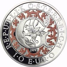 Österreich Verkündungsengel Gabriel 10 Euro Himmlische Boten 2017 Silber  PP