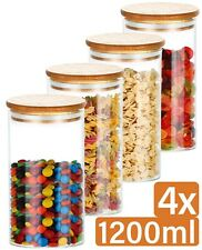 4 Vorratsdosen Glas Vorratsgläser mit Deckel Vorratsglas Behälter Dose Pasta Set