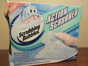 Scrubbing Bubbles Action Scrubber Tub Shower Starter Kit with 4 Disposable Pads!