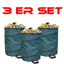 3er SPARSET Gartenabfallsack wetterfest  Nylon 110L Gartensack Laubsack Behälter