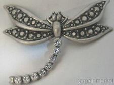Large Austrian Crystal Dragonfly Pin Brooch