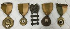 Lot Of 5 Antique 1950's Sharpshooter Medals Awards
