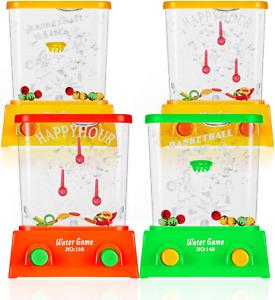 Water Handheld Game Mini Water Ring Toss Basketball Aqua Arcade Toy 4 Pcs New