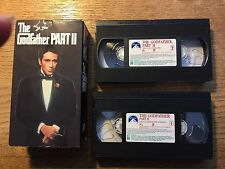 """The Godfather Part Ii"" Vhs - Original 2 Tape Set - Al Pacino-Deniro-Pre-Owned"