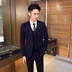 Men's Suit 3pcs Blazer Jacket Pants Vest Formal One Button Slim Fit Business L