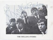ROLLING STONES Signed Photograph - Rock Group Stars - preprint