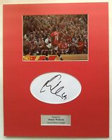 Danny Welbeck Signed Photo Mount Display Manchester United Autograph