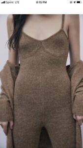 Zara Wool Jumpsuit size small