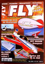 b)Fly n°110 du 5/2004; Plan encarté Sweet Trainer/ / Ballon RC-215/ Sky Sailor