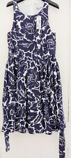 Target Navy and White Fit and Flare with tie Dress Size 12 Brand New with tags