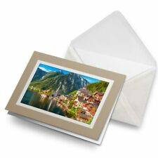 Greetings Card (Biege) - Hallstatt Austrian Alps  #12560
