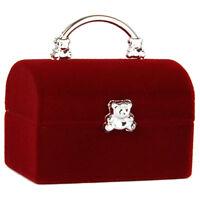 Boite a Bijoux Presentoir pour Bague Boucles d'oreilles Organisateur - Rouge WT