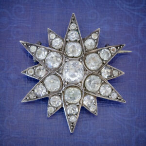 ANTIQUE FRENCH PASTE STAR BROOCH SILVER CIRCA 1890
