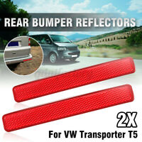 Right & Left Rear Bumper Reflector Lens Light Indicator For VW Transporter T5