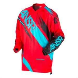 New Motocross Jersey Answer Syncron Red/Teal Enduro MX Size Large