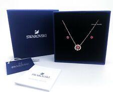 SWAROVSKI Rose Gold Sparkling Dance Red Stones Necklace Earring Gift Set 5480494