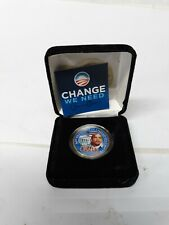 "Barack Obama /""Change/"" Collection 4 Colorized US Coins In Case BRAND NEW"