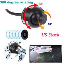 360°Rotating Lens Auto Car Rear View Reverse Backup Camera 12V