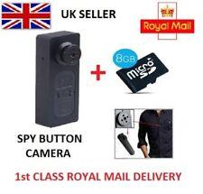 Mini DV espía cámara DVR videocámara ocultos secretos de botón detective Cam Microsd de 8GB